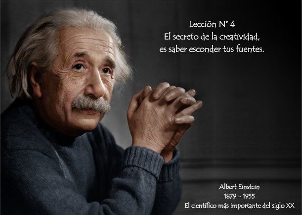 Grafica 'Albert Einstein lección N° 04' Categoria 'Graficas' Palabra 'Einstein'