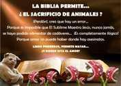 LA BIBLIA PERMITE SACRIFICIOS