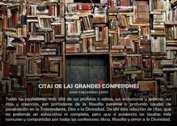 CITAS DE LAS GRANDES CONFESIONES