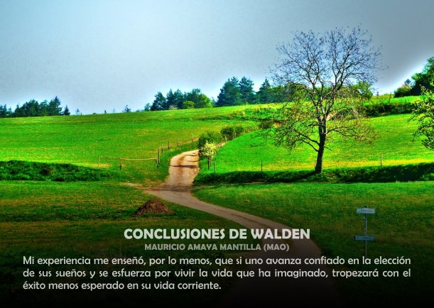 Conclusiones de Walden - Escrito por Mauricio Amaya