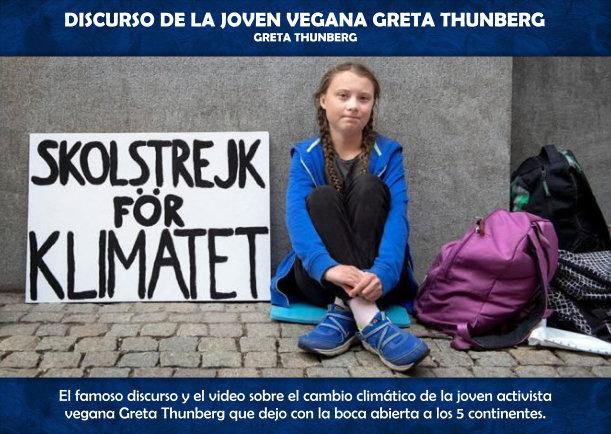 Discurso De La Joven Vegana Greta Thunberg