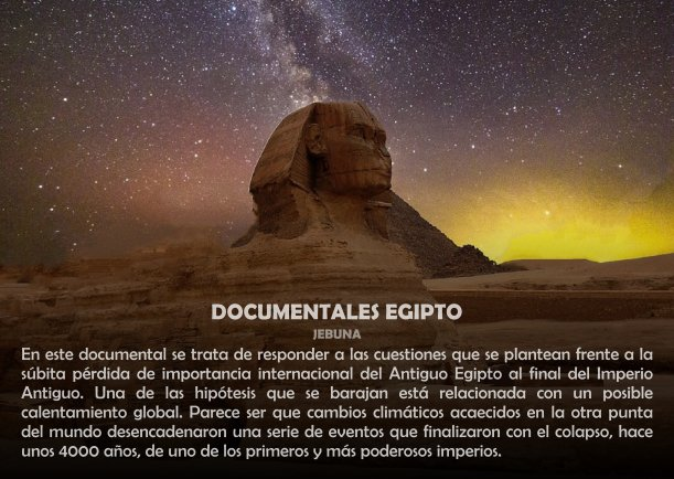 Imagen: DOCUMENTALES EGIPTO, SOCIEDAD, DOCUMENTAL, DOCUMENTAL, DOCUMENTALES-EGIPTO