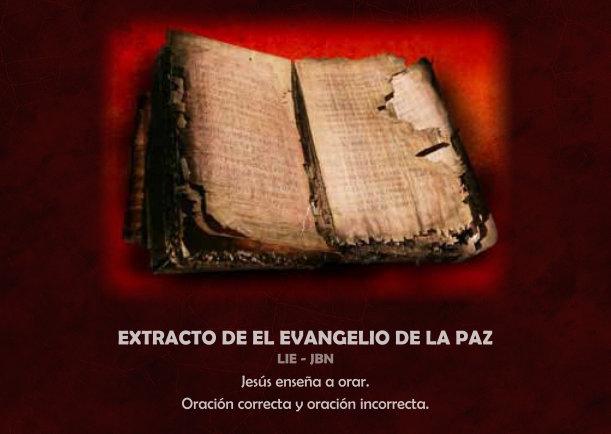 Extracto del evangelio de la paz - Escrito por LIE