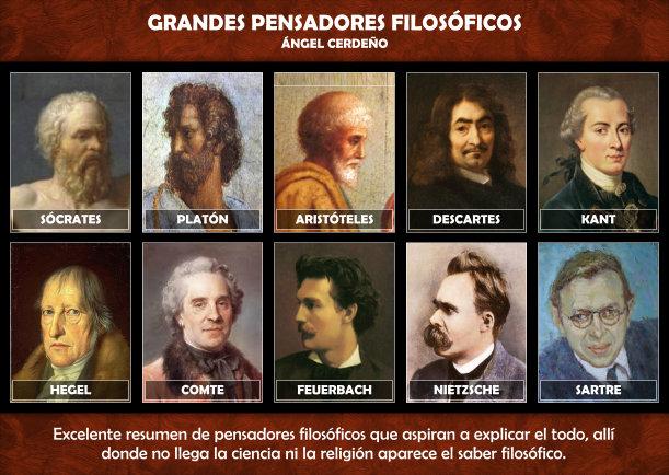 Grandes pensadores filosóficos - Escrito por Angel Cerdeno