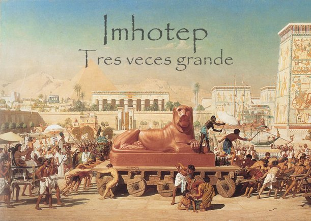 Imhotep tres veces grande - Escrito por Fernando Malkun