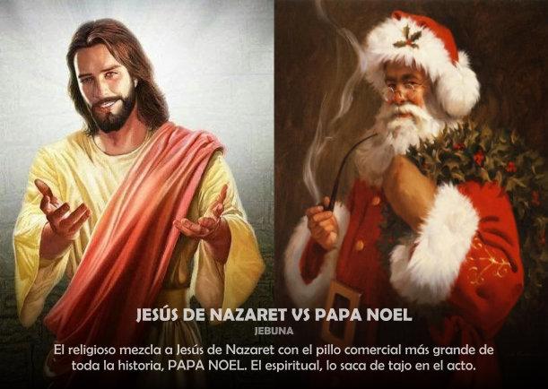 Image De Noel Jesus.Jesus De Nazaret Vs Papa Noel