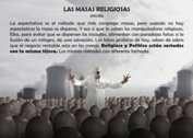 LAS MASAS RELIGIOSAS