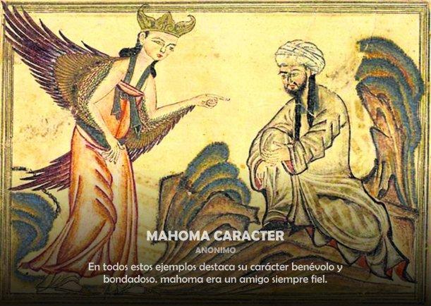 Mahoma carácter - Escrito por Mahoma