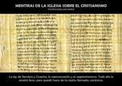 MENTIRAS DE LA IGLESIA SOBRE EL CRISTIANISMO