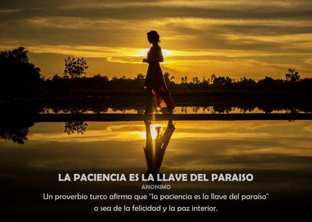 La paciencia es la llave del paraíso - Escrito por Gonzalo Gallo