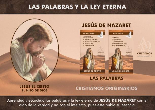 Las palabras y la ley eterna de Jesús de Nazaret - Escrito por Jesus el Cristo