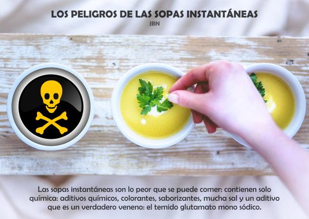 Los peligros de las sopas instantáneas - Escrito por LIE