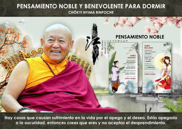 Pensamiento noble y benevolente para dormir - Escrito por Chökyi Nyima Rinpoche