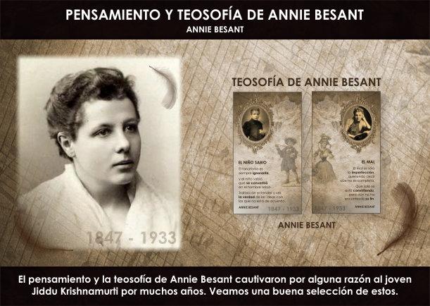 Pensamiento y teosofía de Annie Besant - Escrito por Annie Besant