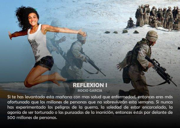 Reflexión i - Escrito por Rocio Garcia