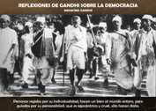 REFLEXIONES DE GANDHI SOBRE LA DEMOCRACIA