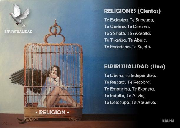 Religión vs espiritualidad - Escrito por JBN