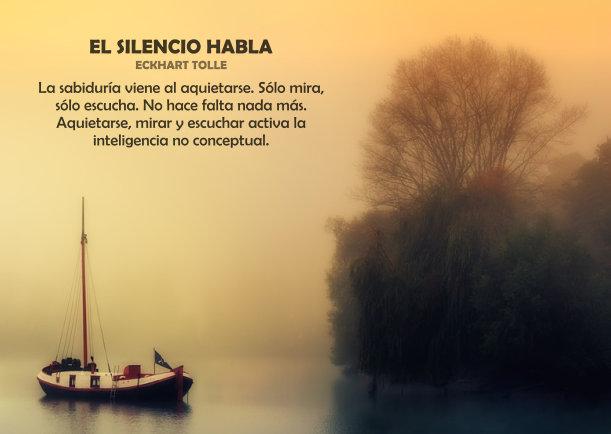 El silencio habla - Escrito por Eckhart Tolle