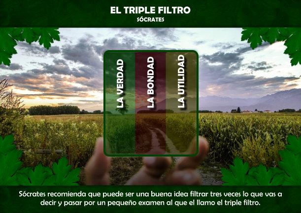 El triple filtro - Escrito por Socrates