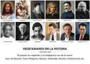 VEGETARIANOS EN LA HISTORIA