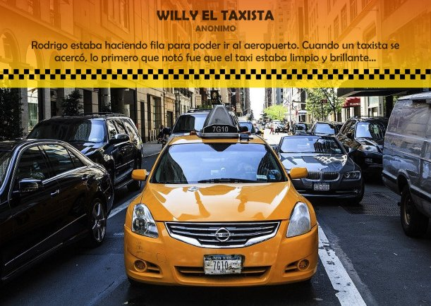 Willy el taxista - Articulos por JBN